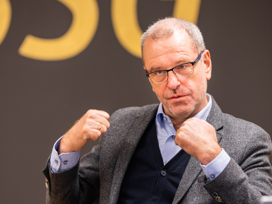 Jens Olesen Lund shows his fists